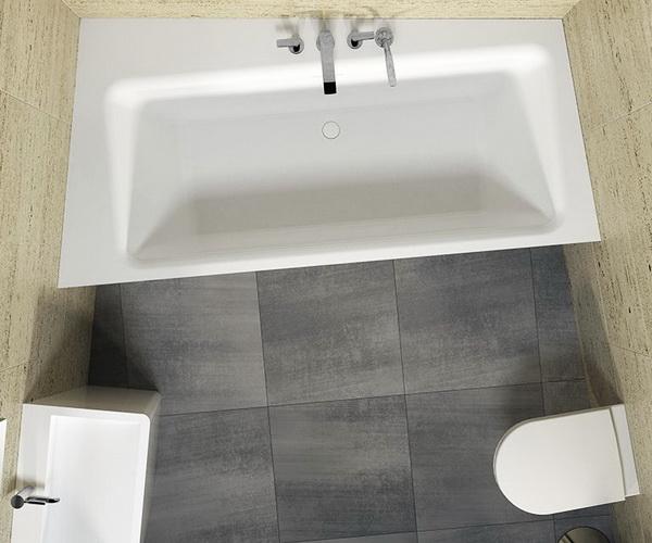 ванна из литьевого мрамора RIHO ZAMORA 220х110 подрезаемая