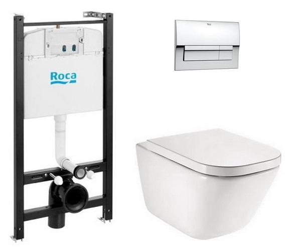 инсталляция и унитаз ROCA GAP безободовый