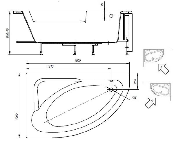 ванна акриловая ROCA WELNA 160х100