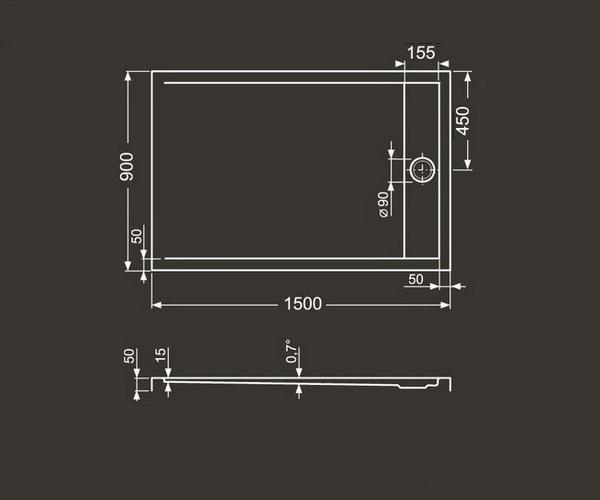 поддон акриловый ROLTECHNIK INTEGRO 150x90