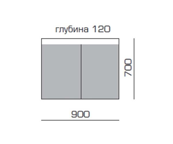 зеркало-шкаф SANVIT ВОЛАНС 90