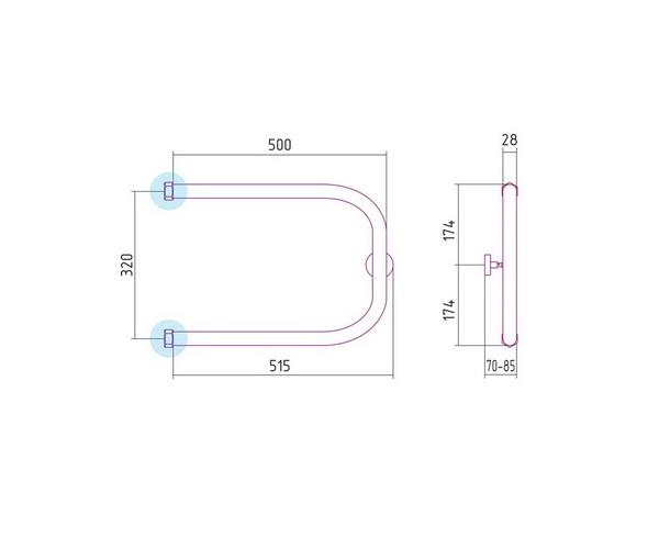 полотенцесушитель СУНЕРЖА П-образный 500х320