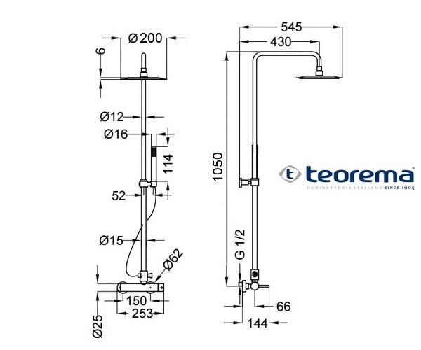 душевая система TEOREMA AIR 2