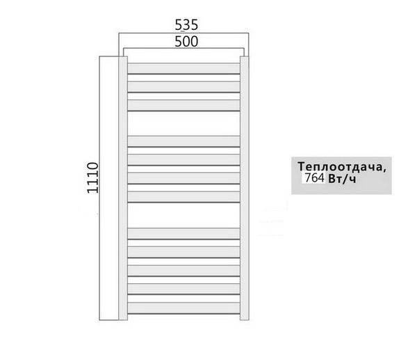 полотенцесушитель TERMINUS ТЕРМИНИ 500х1110