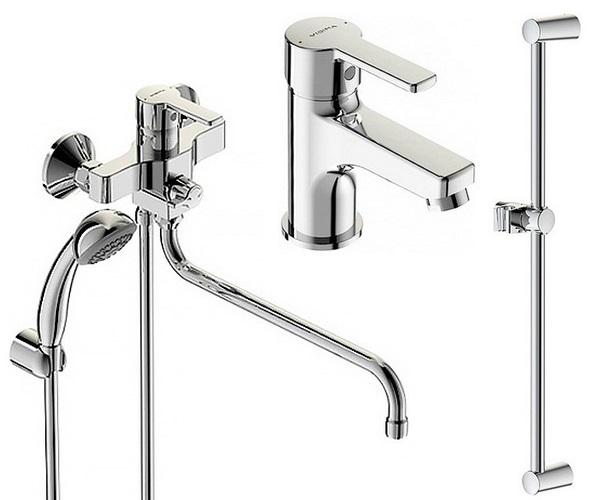 смеситель для ванны VIDIMA UNO - комплект