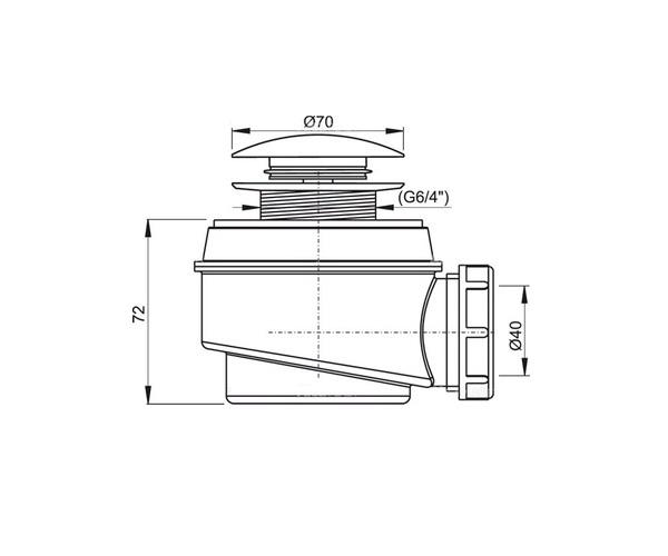 сифон для поддона ALCAPLAST A465BLACK-50