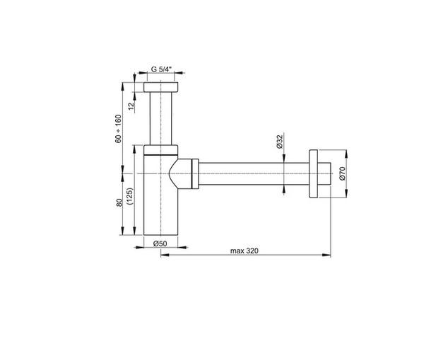сифон для раковины ALCAPLAST A400
