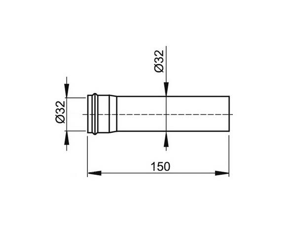 удлинительная труба ALCAPLAST A4000BLACK
