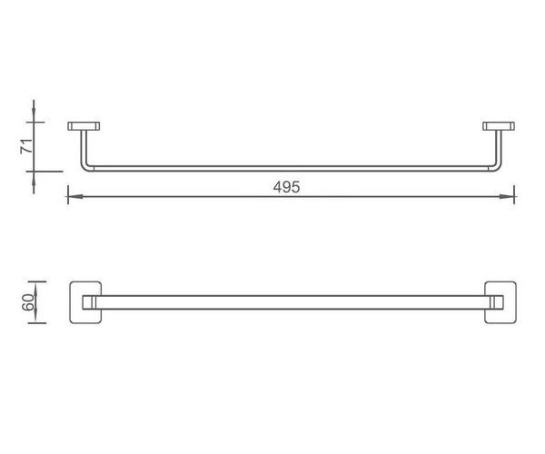 полотенцедержатель AQUANET 6518