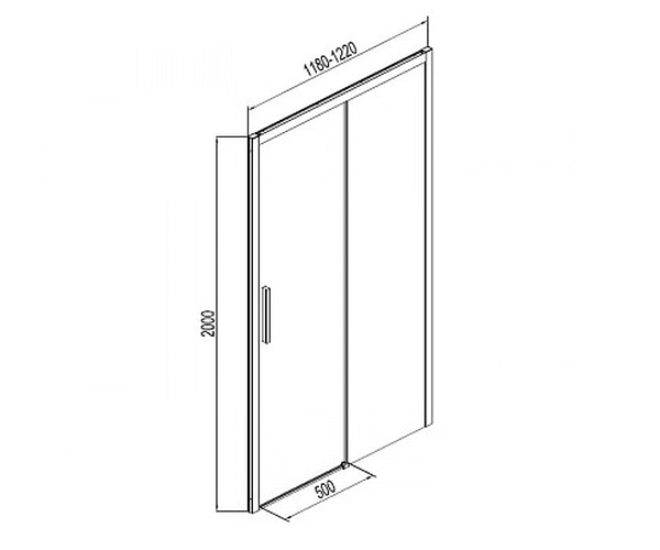 душевая дверь AQUANET PLEASURE 120