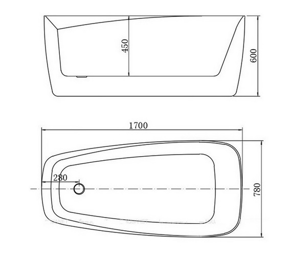 ванна акриловая AQUANET TREND 170х78