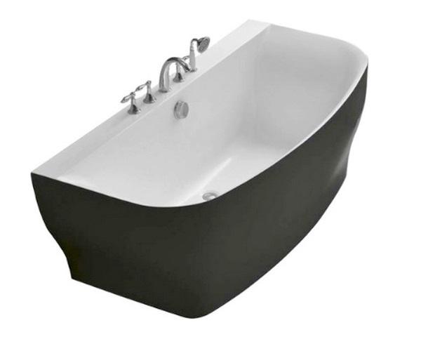 ванна акриловая BELBAGNO BB74-NERO 165х78