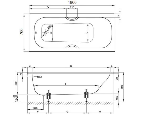 ванна стальная BETTE CLASSIC 180х70