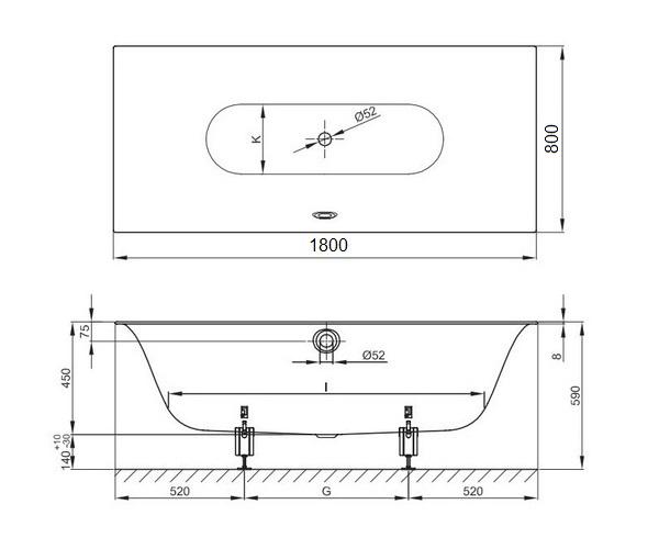 ванна стальная BETTE LUX 180х80