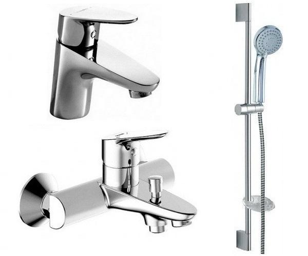 смеситель для ванны BRAVAT DROP - комплект