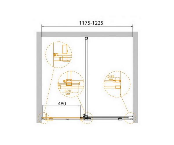 душевая дверь CEZARES STREAM 120