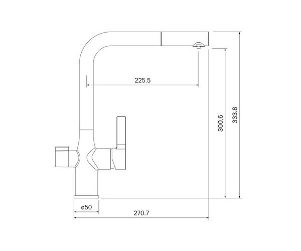 смеситель для кухни IDDIS PURE с каналом для фильтрованной воды