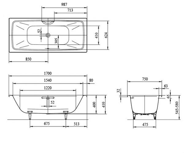 ванна стальная KALDEWEI CAYONO DUO 170х75