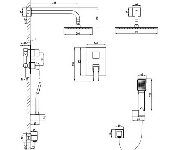 душевая система LEMARK TROPIC