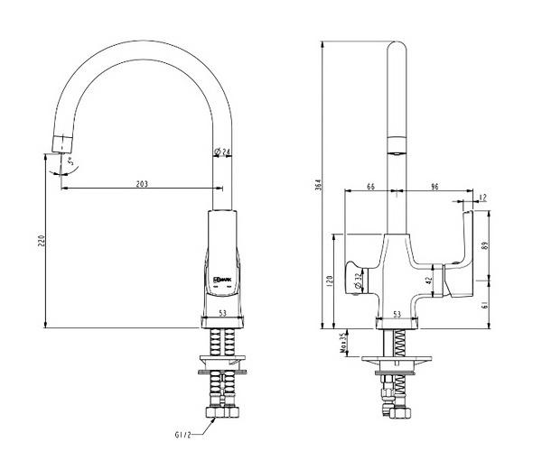 смеситель для кухни LEMARK URSUS с каналом для фильтрованной воды