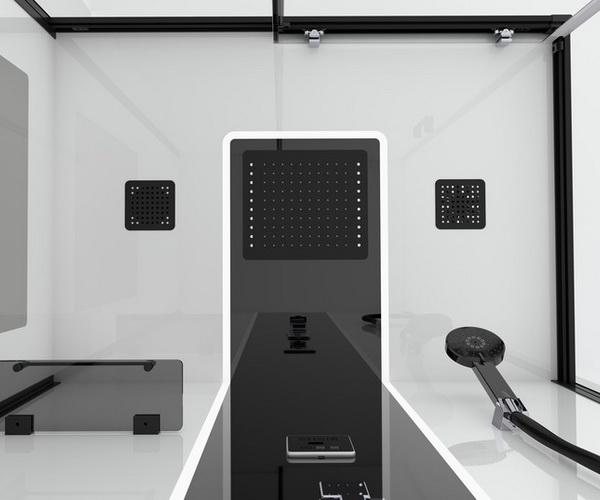 душевая кабина ORANS BLACK&WHITE 110х80