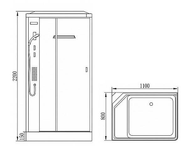 душевая кабина ORANS 110х80