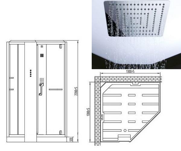 душевая кабина ORANS 130х130
