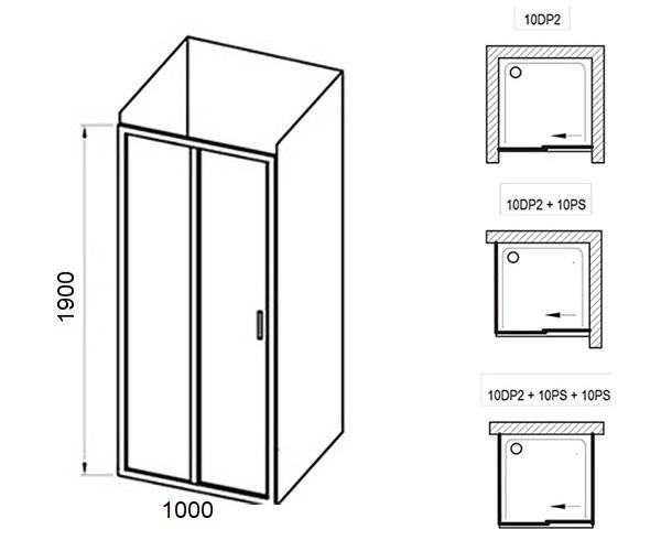 душевая дверь RAVAK 10° 100