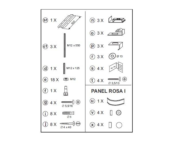 панель RAVAK ROSA II 150 фронтальная