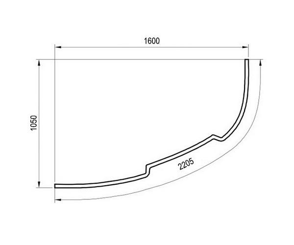 панель RAVAK ASYMMETRIC 160 фронтальная