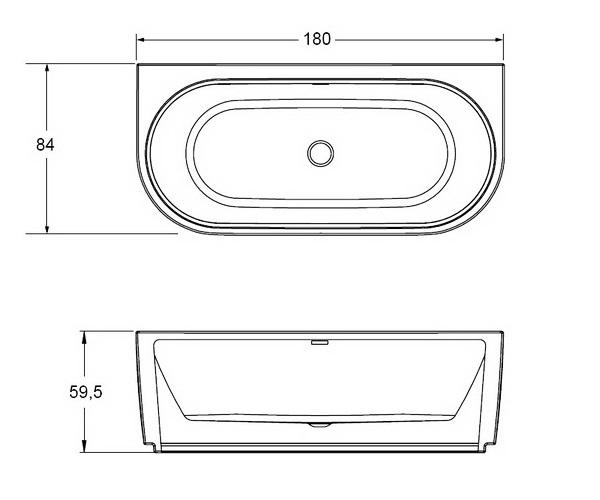 ванна акриловая RIHO DESIRE 184х84 с подсветкой