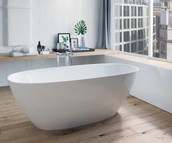 ванна из литьевого мрамора ROCA ARIANE 165х75