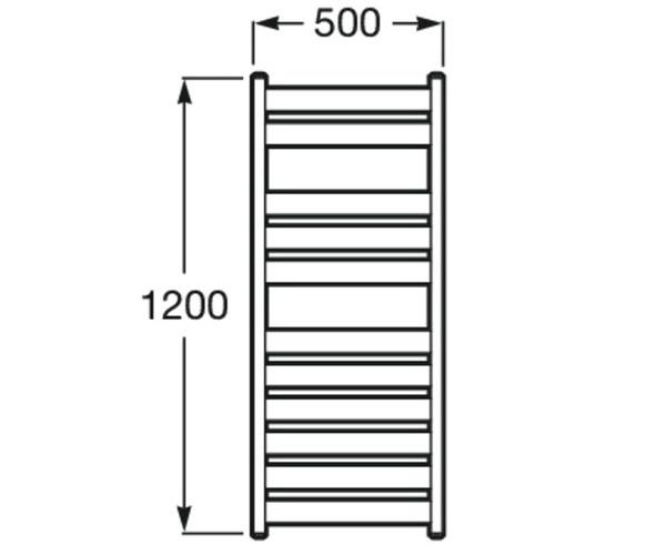 полотенцесушитель ROCA HOTELS 500х1200