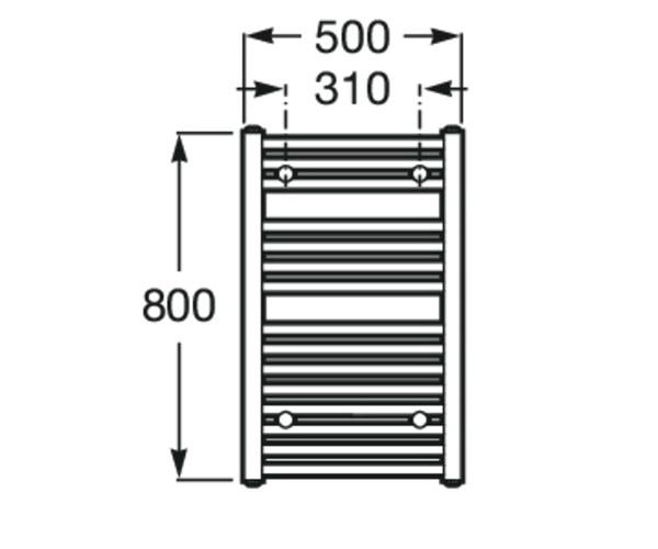 полотенцесушитель ROCA VICTORIA 500х800