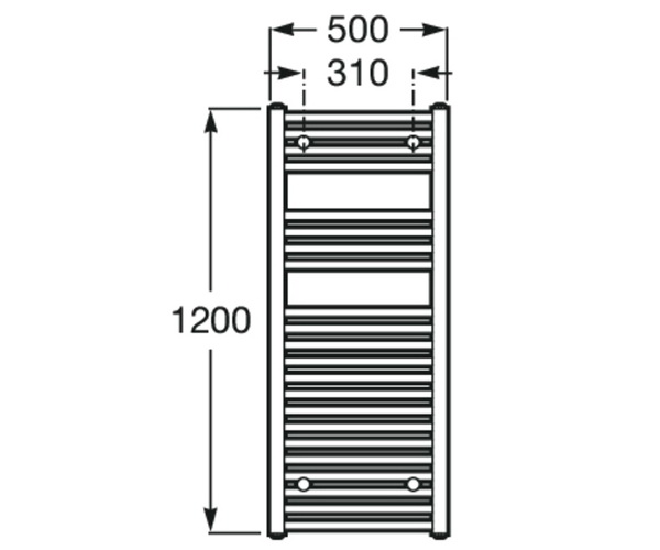 полотенцесушитель ROCA VICTORIA 500х1200