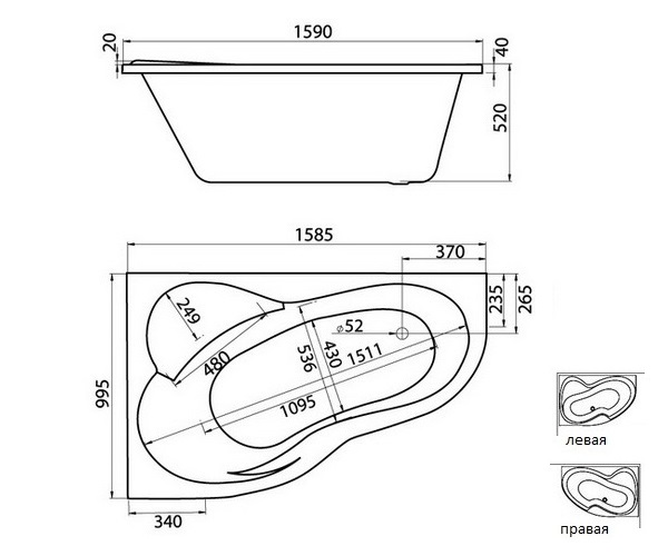 ванна акриловая SANTEK ИБИЦА 160х100