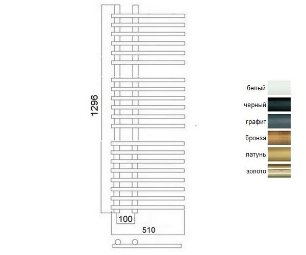 полотенцесушитель TERMINUS АСТРА 510х1296