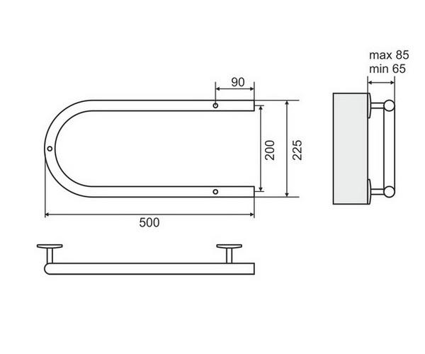 полотенцесушитель TERMINUS П-образный 500х200