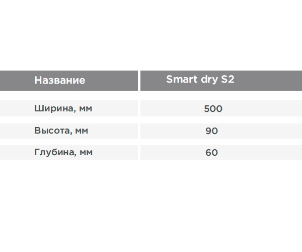 полотенцесушитель TERMINUS SMART DRY S2 500