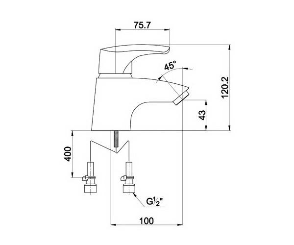 смеситель для раковины TIMO UTA
