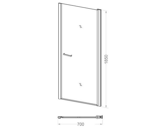 душевая дверь VECONI VN-43 70