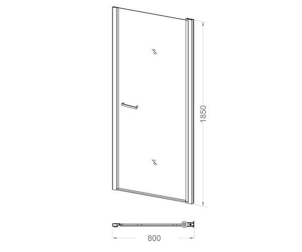 душевая дверь VECONI VN-43 80
