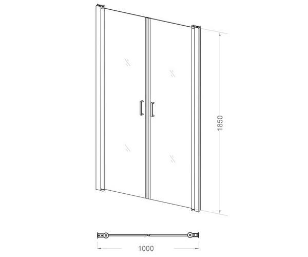 душевая дверь VECONI VN-44 100