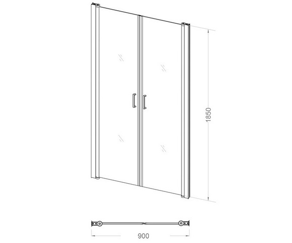 душевая дверь VECONI VN-44 90