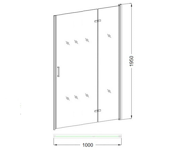 душевая дверь VECONI VN-52 100
