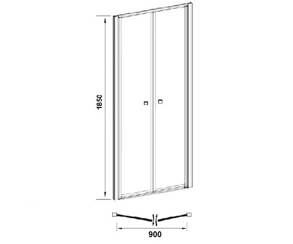 душевая дверь VECONI VN-60 90