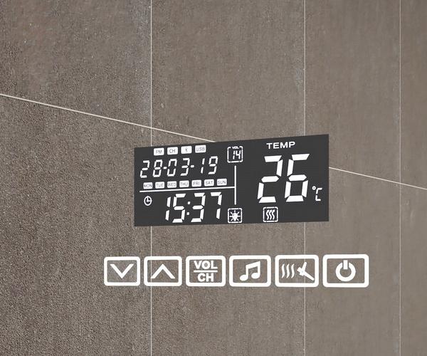 зеркало VIGO MARTA 80 с часами, Bluetooth