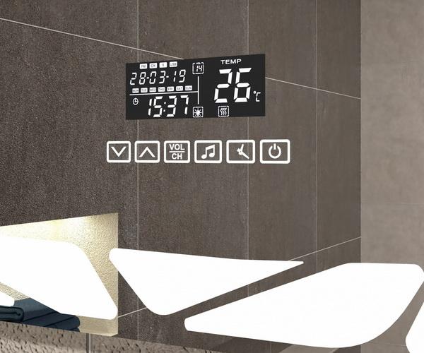 зеркало VIGO MELISSA 80 с часами, Bluetooth