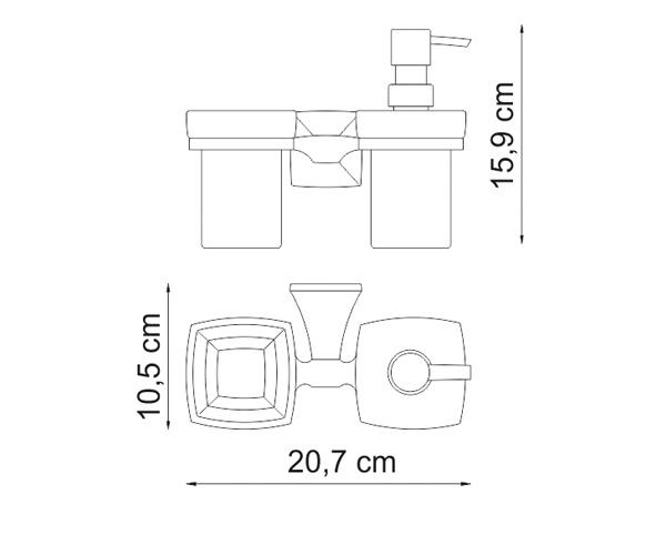 стакан WASSERKRAFT WERN и дозатор