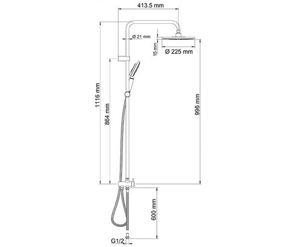 душевая система WASSERKRAFT A039